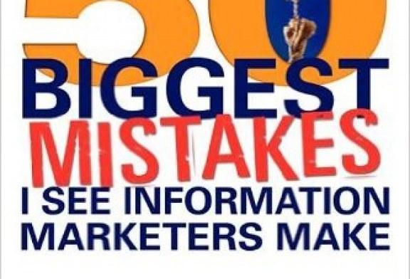بازاریابی اطلاعات، چکیده کتاب ۵۰ اشتباه بازاریابی اطلاعات