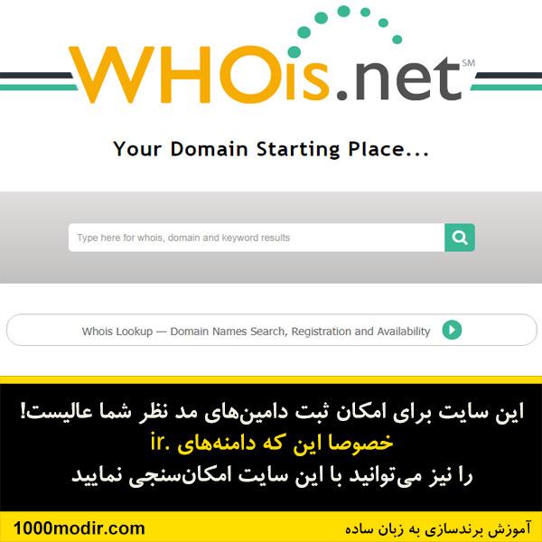 انتخاب اسم سایت